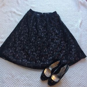 NWT Express Black Lace Skirt